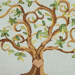 Homefires - Love Tree Rug - It's a fact that love blooms in every family tree. Show the love that springs eternal in your home with an accent rug that adds warmth to both your room and your heart. It's machine washable for those times when your love spilleth over.