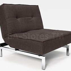 """Innovation USA"" Splitback Begum Dark Brown Chair with Chrome Legs - Wherever it would be used, the ""Innovation USA"" Splitback Begum Dark Brown Chair with Chrome Legs will be a good-looking and comfortable spot with the space-saving design. The chair can be transformed into an ottoman in mere seconds."