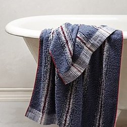 "Morihata - Forty Stripe Towel - By MorihataCottonMachine washWashcloth: 14"" squareHand towel: 32""L, 14""WBath towel: 50""L, 27""WJapan"