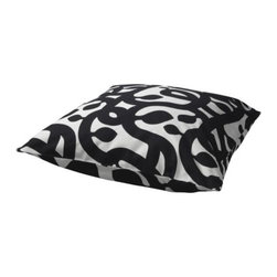 KAJSA TRÄD Cushion cover - This kicky black and white pillow is one of my Ikea favorites. I have one on each of the twin beds in my guest room.
