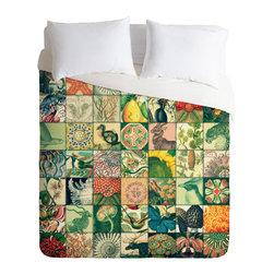 DENY Designs - Belle13 Wonderful World Patchwork Duvet Cover - Turn your basic, boring down comforter into the super stylish focal point of your bedroom. Our Luxe Duvet is made from a heavy-weight luxurious woven polyester with a 50% cotton/50% polyester cream bottom. It also includes a hidden zipper with interior corner ties to secure your comforter. it's comfy, fade-resistant, and custom printed for each and every customer.