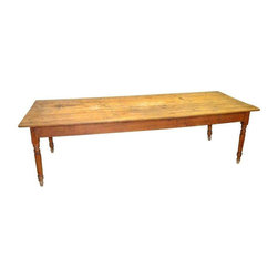 Large 9' 19th Century Pine Farm Table - $4,950 Est. Retail - $2,475 on Chairish. -