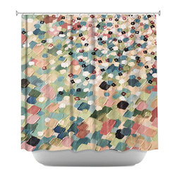 DiaNoche Designs - Shower Curtain Artistic - Swept Away IV - DiaNoche Designs works with artists from around the world to bring unique, artistic products to decorate all aspects of your home.  Our designer Shower Curtains will be the talk of every guest to visit your bathroom!  Our Shower Curtains have Sewn reinforced holes for curtain rings, Shower Curtain Rings Not Included.  Dye Sublimation printing adheres the ink to the material for long life and durability. Machine Wash upon arrival for maximum softness. Made in USA.  Shower Curtain Rings Not Included.