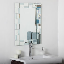 Decor Wonderland - Quebec Modern Bathroom Wall Mirror - 24W x 32H in. Multicolor - SSM310710 - Shop for Bathroom Mirrors from Hayneedle.com! The Quebec Modern Bathroom Wall Mirror - 24W x 32H in. is a reflective mosaic composed of a beautiful center sheet of glass surrounded by 40 hand-cut and beveled pieces. These miniature mirrors draw an impressive border that's not checkered but instead displays an eye-catching pattern of inset squares and rectangles forming a sleek border that complements modern decor.About Decor Wonderland of USDecor Wonderland US sells a variety of living room and bedroom furniture mirrors lamps home office necessities and decorative accessories. Decor Wonderland strives to add variety to their selection so that every home is beautifully and perfectly decorated to suit their customer's unique tastes.