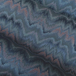 Range Upholstery Fabric in Slate - Range Upholstery Fabric in Slate. This blue & pink chevron pattern cotton blend is ideal for upholstering couches, chairs, ottomans and benches, or accent pillows.