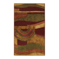 Mohawk - Contemporary Picasso 2'x5' Rectangle Wine-Tan Area Rug - The Picasso area rug Collection offers an affordable assortment of Contemporary stylings. Picasso features a blend of natural Wine-Tan color. Machine Made of Nylon the Picasso Collection is an intriguing compliment to any decor.
