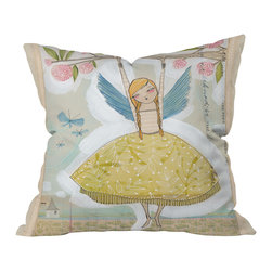 DENY Designs - Cori Dantini Make A Little Memory Throw Pillow, 26x26x7 - You may be a grown, modern woman, but you haven't forgotten what it's like to be a tree-climbing fairy princess. Cori Dantini's design captures the feeling of dreamy girlhood in a contemporary style that reminds you it's still OK for adults to be arty and imaginative. This whimsical throw pillow will help you infuse some of that magic into your home decor.