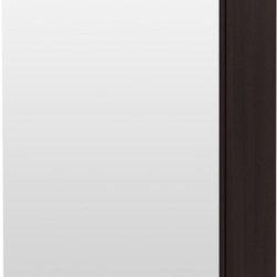 IKEA of Sweden - LILLÅNGEN Mirror cabinet with 1 door - Mirror cabinet with 1 door, black-brown
