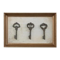 Sterling Industries - Framed Antique Reproduction Keys - Framed Antique Reproduction Keys