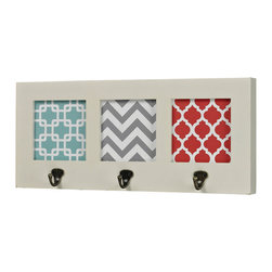 Sterling Industries - Sterling Industries 129-1103 Chevron Print Wall Hook - Wall Hooks