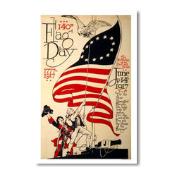 PosterEnvy - 140th Flag Day 1777 - 1917 - Vintage Artwork Reprint Poster - 140th Flag Day 1777 - 1917 - Vintage Artwork Reprint Poster