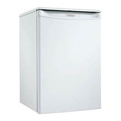 Danby - Compact All Refrigerator - White - You can add a touch of class to any room in your home or office with this striking compact refrigerator by Danby. It comes in at a height of just over two feet and features 2.6 cu. ft. (73 L) of cooling capacity. It�s the ideal unit for floors and countertops, making it the perfect fridge for spaces such as dormitory rooms and wet bars. Finding storage room for tall bottles is no problem at all and the third-generation CanStor beverage dispenser is second to none. Accessories can easily be stored on the scratch-resistant worktop and there�s no need to defrost the unit as it's done automatically. This splendid appliance also comes with a mechanical thermostat and offers 2.5 strong wire shelves for maximum storage versatility. Both left and right-handed users will love the convenient reversible door swing and the integrated door handle. This compact unit also comes with a parts and labour warranty of 18 months.2.6 cu. ft. (73 L) capacity compact all refrigerator