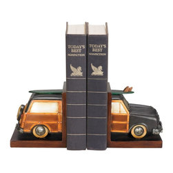 Sterling Industries - Sterling Industries Pair Vintage Vacation Bookends Decorative Accessory - Sterling Industries X-1294-19