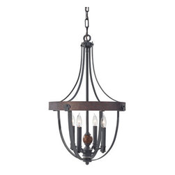 Murray Feiss - Murray Feiss F2798/4 Alston 4 Light Single Tier Chandelier - Features: