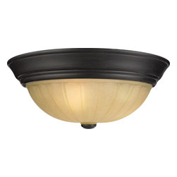 Quoizel - Quoizel TL184EP Tradewinds Traditional Flush Mount Ceiling Light - This classic flush mount offers versatile styling that coordinates with most any home decor.  The warm glass has a stamped pattern of melonshaped wedges, and is complemented by a rich, dark finish.