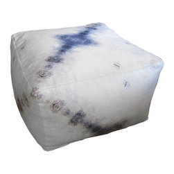 "Eskayel - Aquarius Indigo 20""X20""X12"" Pouf - An artful pouf is the perfect addition to a living room. It's great for extra seating or for propping up your feet after a long day."