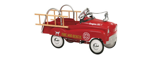 """InSTEP - Fire Truck Pedal Car - Whimsical yet functional memorabilia, InSTEP pedal cars are finely crafted from steel for a safe, fun ride - anywhere, anytime. Great as a gift or a decorative addition to a room, these classic pedal cars are fun for kids of all ages. Features: -Solid steel construction - Provides outstanding durability -Authentic detailing - Brings back memories of old times -Adjustable pedal drive - Fits a wide size range of children -Lead-free paint - For a safe and attractive finish -Functional steering - Provides true performance and easy use -Rubber tires and chrome hub caps - Finishes a great custom look -Dimensions: 42"""" H ***Please note that these products cannot be shipped to Puerto Rico. We apologize for the inconvenience - feel free to call us regarding alternatives!"""