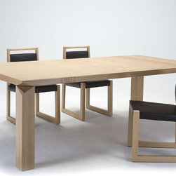 FORTUNE DINING TABLE - Fortune Dining table is a combination of natural ash color and lines without modification, which brings to you the true freshness of nature. The design is very simple and generous which is shown through a large scale of the tabletop and the thickness of the legs. The table is