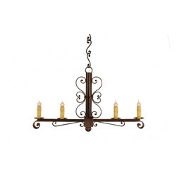 "Santangelo Lighting - 4 Light Colonial Wrought Iron Chandelier - 4 Light Colonial Wrought Iron Chandelier. Dimensions: 36""W X 20""H, Lights: 4, Finish: Bronze, Tiers: 1, Bulbs: Uses Up To 60 Watt Bulbs (Not Included), Light Covers: Optional Upgrade Onyx Socket or Light Covers, Chain: Comes with 2ft Chain, Weight: 32 LBS, Lead Time: Custom Order 2 - 4 Weeks; UL Approved"