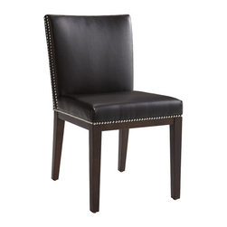 """Sunpan Modern - Vintage Parsons Chair (Set of 2) - Features: -Frame: Solid wood.-Unique double row of silver nail head trim.-Finish: Espresso.-Please note that although every attempt has been made to ensure accuracy, all dimensions are approximate and colors may vary.-Please note that the leg color on Sunpan dining chairs does not always match the dining table color.-Vintage collection.-Collection: Vintage.-Distressed: No.-Upholstered Seat: Yes .-Upholstered Back: Yes .Dimensions: -Seat height: 18"""".-Overall Product Weight: 37.5 lbs.Warranty: -This item is deemed acceptable for both residential and nonresidential environments such as restaurants, hotels, lounges, offices and reception areas. Please note that this item carries the manufacturer's standard ONE YEAR WARRANTY from the date of purchase. Please contact Wayfair customer service or sales representatives for further information."""