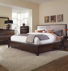 contemporary beds by Mealey's Furniture