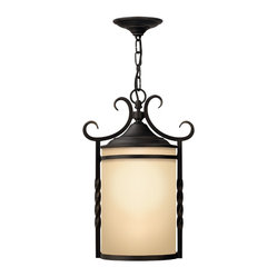 Hinkley Lighting - Hinkley Lighting Casa Hanging Outdoor Lantern - Forged Iron Strength in Design for your own casa. Comes in Olde Black finish. Takes 1 100-watt Medium bulb.