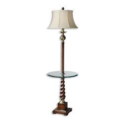 Uttermost - Uttermost 28568 Myron Twist End Table Floor Lamp - Uttermost 28568 Myron Twist End Table Floor Lamp