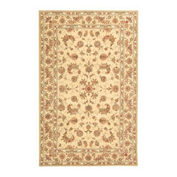 """Safavieh - Traditional Persian Court Hallway Runner 2'3""""x10' Runner Beige - Beige Area Rug - The Persian Court area rug Collection offers an affordable assortment of Traditional stylings. Persian Court features a blend of natural Beige - Beige color. Hand Tufted of Wool & Silk the Persian Court Collection is an intriguing compliment to any decor."""