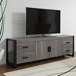 70-inch Urban Blend Ash Grey Wood TV Stand -