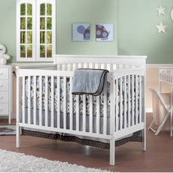 Sorelle - Petite Paradise 4-in-1 Convertible Crib Set - Sorelle cribs, changing tables and more are custom made with a design that flawlessly integrates form and function. Suitable for newborns and toddlers, the Petite Paradise Crib and Complete Nursery can convert from a crib to a day bed, toddler bed and full-sized headboard and footboard. Includes dresser, changing table and hamper to have a complete nursery. Features: -4-Drawer chest, dressing table, hamper, and toddler rail.-Crib easily converts to daybed, toddler bed and full size headboard and footboard (rails needed, optional).-Adult side rails convert crib to full size (optional).-Constructed on New Zealand Pine.-Petite Paradise collection.-This Crib is approved for use in the United States. This is a NON-Drop Side crib.-Distressed: No.Dimensions: -38'' H x 58'' W x 11'' D, 99 lbs.