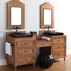 "52-74"" Copper Cove Double Sink Vanity -"