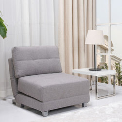 None - New York Ash Convertible Chair Bed - This combination chair bed puts a premium on convenience and comfort. Its an ideal solution for small living spaces that require furniture to be able to serve more than one role. Features a contemporary look and high density foam cushions.