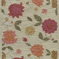 Momeni - Momeni Summit Oatmeal Ivory Flowers Transitional 8' x 10' Rug by RugLots - Inspired by its surroundings, Summit is a casual collection of hand-hooked rugs in bold floral and ethnic patterns. Made of 100% polyester.