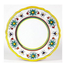 Artistica - Hand Made in Italy - Raffaellesco Lite: Charger Plate (Simple Decor - Sim) - Raffaellesco Collection: Among the most popular and enduring Italian majolica patterns, the classic Raffaellesco traces its origin to 16th century, and the graceful arabesques of Raphael's famous frescoes.