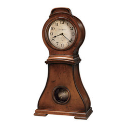 "HOWARD MILLER - Howard Miller Mallory Pendulum Mantel Clock - This mantel clock, which stands over 22"" tall and makes a statement on any mantel."