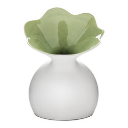 Lily of the Valley Vase - Although it's in the shape of a lily, this is no garden variety vase. It welcomes all flowers, thank you very much.