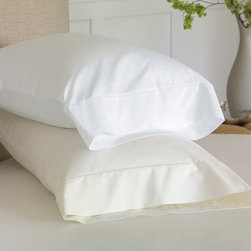 """Frontgate - Gianna Pillowcase - Frontgate - Standard: 20"""" x 27"""" +5"""" overhang. King: 21"""" x 37"""" +5"""" overhang."""