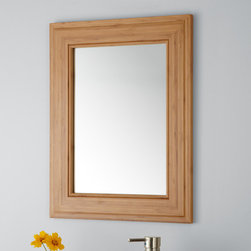 "19"" Portola Bamboo Vanity Mirror - The unassuming Portola Bamboo Mirror is the ideal size for a small or medium bath. Designed to accompany a vanity, this simple mirror may be used in any room."