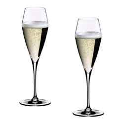 Riedel - Riedel Vitis Champagne Glass Glasses - Set of 2 - Lead crystal launched in 2007. Recommended for: Cava, Cuvée Prestige, Kir, Prosecco, Sekt, Sparkling Wine, Vintage Champagne, Vintage Sparkling Wine.