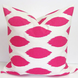 Decorator Pillow Cover by Elemen O Pillows - Looking for a playful punch of graphic pattern? I love this take on Ikat! Plus, it comes in so many different colors, and the price is unbeatable.