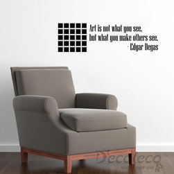 Optical illusion with Edgar Degas Art quote wall decal - Optical illusion with Edgar Degas Art quote wall decal | 24 colors available