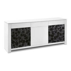 Domeitalia - Bass Italian Modern Sideboard in White Lacquer Finish by Domeitalia - Modern Style Sideboard