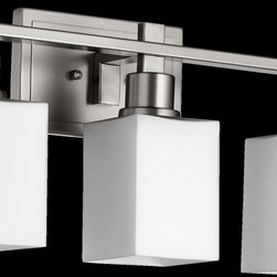 Quorum Lighting - Quorum Lighting 5098-3-65 Tate Transitional Bathroom Light - Quorum Lighting 5098-3-65 Tate Transitional Bathroom Light