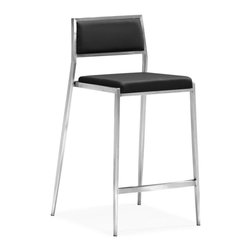 Zuo Modern - Zuo Modern Dolemite Modern Counter Chair (Pack of 2) X-881003 - Stand out with our Dolemite counter chair. The sleek design comes in black or white leatherette on a stainless steel base.