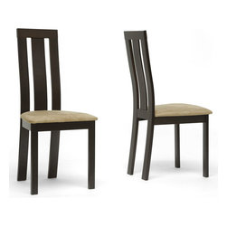 Wholesale Interiors - Contemporary Verona Dining Chair - Set of 2 - Bring your dining room furniture up a level with our Verona Designer Dining Chair.