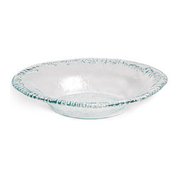 Danya B - Artisan Recycled Glass Rippled-Edge Serving Bowl - This gorgeous Large Artisan Recycled Glass Rippled Edge Serving Oval Shape Bowl has the finest details and highest quality you will find anywhere! Large Artisan Recycled Glass Rippled Edge Serving Oval Shape Bowl is truly remarkable.
