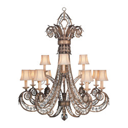 Fine Art Lamps - Fine Art Lamps 171740 A Midsummer Nights Dream Patina Chandelier - 12 Bulbs, Bulb Type: 60 Watt Candelabra; Weight: 78lbs
