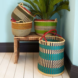 Bolga Basket - Baskets are ideal for holding fresh towels in the bathroom or reading material in a living room.