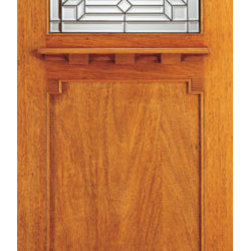 """Brazilian Mahogany Arts and Crafts Style Single Door, Triple Glazed - SKU#AC-707-A_1BrandAAWDoor TypeExteriorManufacturer CollectionArts and Crafts Front DoorsDoor ModelDoor MaterialWoodgrainVeneerPrice950Door Size Options36"""" x 80"""" (3'-0"""" x 6'-8"""")  $036"""" x 84"""" (3'-0"""" x 7'-0"""")  $0Core TypeDoor StyleCraftsman , MissionDoor Lite Style1 LiteDoor Panel Style1 PanelHome Style MatchingCraftsman , Prairie , Bungalow , Mission , Arts and CraftsDoor ConstructionPrehanging OptionsPrehung , SlabPrehung ConfigurationSingle DoorDoor Thickness (Inches)1.75Glass Thickness (Inches)3/4Glass TypeTriple GlazedGlass CamingBlackGlass FeaturesBeveled , Tempered , InsulatedGlass StyleGlass TextureGlass ObscurityDoor FeaturesDoor ApprovalsFSCDoor FinishesDoor AccessoriesWeight (lbs)340Crating Size25"""" (w)x 108"""" (l)x 52"""" (h)Lead TimeSlab Doors: 7 daysPrehung:14 daysPrefinished, PreHung:21 daysWarranty"""