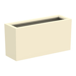 Decorpro - Medium Aberdeen Planter, Antique White - The Aberdeen planter is perfect for indoor and outdoor use. Use this planter indoors to create an amazing garden for fresh herbs and vegetables. The slender depth and elongated width allows for a versatile range of placements and uses.
